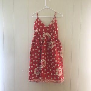 Red polka dot sun dress